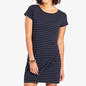 Skies Are Blue Navy White Striped Cross Front